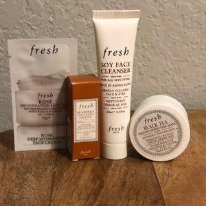 Fresh Skincare Beauty Sample Package NWT (4 pieces